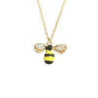 fliegende tiere großhandel-Cute Cartoon Crystal Flying Bee Animal Inspiration Anhänger Halskette für Mädchen Frauen Kinder Choker Halskette Schmuck Geschenk