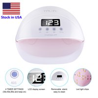 Wholesale curing lamps nails - 50W Novelty Lighting UV LED Lamp Nail Dryer Nail Lamp With LCD Display Auto Sensor Manicure Machine for Curing UV Gel Polish
