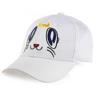 Wholesale anime clothing accessories for sale - Anime Sailor Moon Baseball Cap White Color Casual Snapback Hat Totoro Clothing Accessories Cosplay Cap for Gift