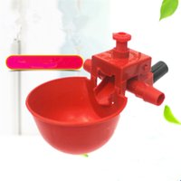 Wholesale chicken waterer cups resale online - Automatic Bird Coop Feed Drinking Cups Poultry Chicken Fowl Drinker Red Quail Waterer Animal Feeders Pet Supplies MMA606