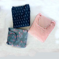 Wholesale Roll Up Storage Bags - Travel Bundle Pocke Large Capacity Lazy Cosmetic Bag Fashion Flamingo Make Up Storage Drawstring Bags Portable Many Styles 10 5js C R