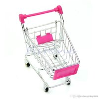 Discount supermarket shopping cart toy - Wholesale- Mini New Supermarket Handcart Shopping Utility Cart Mode Storage Toy Red