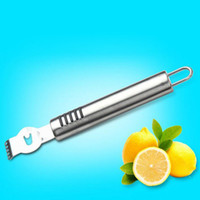 Wholesale Metal Lemon - Stainless Steel Fruit Peelers Lemon Orange Zester Citrus Grater Metal Grips Lime Zest Peeling Tool Knife ZA5586