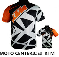 camisetas uv al por mayor-Marca-KTM Camisetas de Motocross T-shirts OFF ROAD motocicleta Ciclismo Jerseys Sudadera transpirable MTB Camiseta de descenso Quick Dry