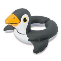 piscinas infantis infláveis venda por atacado-Inflável Anel de Natação Dos Desenhos Animados Sapo Pinguim Pato Piscina Flutuador Bebê Crianças de Verão de Diversão Piscina de Água Brinquedos Criança Nadar Segurança