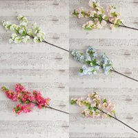 Wholesale photography mount - Artificial Cherry Blossom Flower Colourful Wedding Decorations Flowers Simulation Sakura Branch Photography Take Photo Prop 5 8xs C R