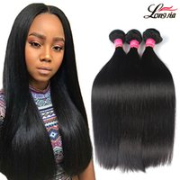 Wholesale Malaysian Silky Straight - 8A Brazilian Straight Virgin Hair 3 4 Bundles Unprocessed Brazilian virgin straight Human Hair Weave Peruvian Malaysian Silky Straight Hair