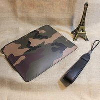 камуфляжная муфта оптовых-NEW 2018 Men Business Large Purse Camouflage Casual Bag for Male PU Leather Men's Fashion  Clutches Envelope Wristlet Bags