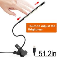 Wholesale computer reading books resale online - LED Smart Touch Light Book Reading Light Night Light Portable Lamp with Dimmer Clip for Bed Computer Laptop