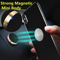 мобильный стенд универсальный оптовых-Универсальный мини Магнитный держатель мобильного телефона приборной панели автомобиля кронштейн держатель сотового телефона стенд для iPhone X 8 SamsungS8 S6 LG Магнит держатель