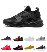 chaussures de course les moins chères achat en gros de-Pas cher en vente Huarache Ultra Run Chaussures Triple Blanc Noir Acheter Chaussures de course pour imbattable Prix bas Outdoor Voyage Exercice Sneaker