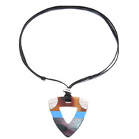 ingrosso stringa nera per donne in collana-Big e Acrylic Stitching Necklace per le donne Black String Stretch Ethnic Necklace Jewelry per le donne