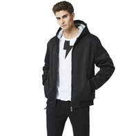 Wholesale men s cardigan long sweater resale online - New EUR Size Mens Large Size Fleece Sweatshirts Solid Hooded Sweaters for Autumn Winter Causal Ribbed Outwear S XL