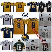 Wholesale aaron rodgers jerseys - NCAA #8 Aaron Rodgers Green Bay California Golden Bears College Football Stiched #10 Marshawn Lynch Cal bears Oakland Jersey S-3XL