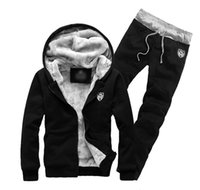 ropa coreana xxl al por mayor-Invierno más terciopelo engrosamiento chaqueta con capucha traje suéter de los hombres más fertilizante XL ropa deportiva chaqueta de los hombres coreanos