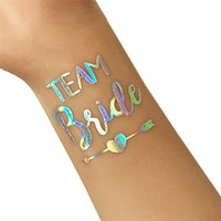 pegatinas de tatuajes para la mano al por mayor-Fuentes del partido Etiqueta engomada de la mano Tribu de la novia Eco amigable con el estilo del arco iris Pegatinas tatuaje Fuentes coloridas del partido Decoración de la boda 0 68ns jj