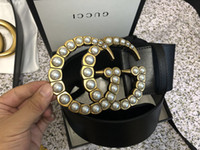 free gift picture 2018 - 2018 classic style belt 2.0 3.4 3.8 cm wide with double alphabet buckle real picture 105-125cm GOOD QUALITY as a gift with box.