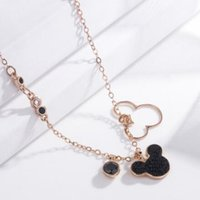Wholesale luxury mouse resale online - luxury jewelry designer necklace for women mouse long sweater pendant necklace hot fashion free of shipping