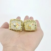 Wholesale league championship ring - 2018 The Newest 2pcs 1992 1993 Toronto blue jays small Christmas gifts Major League Baseball Championship Ring wholesale Drop Shipping