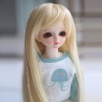 ingrosso luce bjd-Più nuovo 1/3 1/4 1/6 Bjd SD Doll Parrucca Filo Luce Bionda Colori Ad Alta Temperatura BJD Super Dollfile Per Parrucca Capelli Bambola