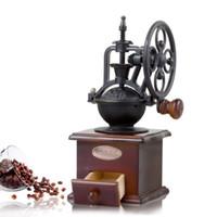 eski ev toptan satış-2018 yeni stil vintage dönme dolap el değirmeni Kahve çekirdeği değirmeni Manuel değirmen Kahve makineleri ADEDI: 1 ADET