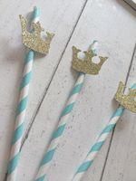 doğum günü partisi dekorasyonu prens toptan satış-Noel 20 Mavi Payet Prens Taç. Parti Süslemeleri Ilk Doğum Günü Partisi Çocuk Içme Payet Çocuk Doğum Günü