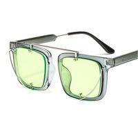 большие квадратные очки оптовых-mincl/ Fashion Oversized Sunglasses Women Metal Square Sunglass 2018 Brand Female Shades Mirror Big Size Frame Sun Glasses NX