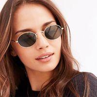 Wholesale designer r - 2018 Small Oval Sunglasses 3020 R Women Superstar Brand Designer Trend Metal Frame Glasses Pink Black Mirror Reflective Lens UV400 KF025
