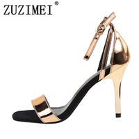 baa516f8a25b7f Frauen Neueste Klassische 9 cm High Heels Fetisch Qualität Größe 40 Sandalen  Weibliche Gladiator Sommer Günstige Schuhe Dame Rot Nude Sexy Pumps