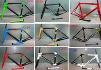 Wholesale 26 fork carbon - 26 colors Colnago C60 Carbon Road Frame full carbon fiber Road Bike Frame+ Seatpost+ Fork+ Clamp+ Headset SIZE XS S M L XL