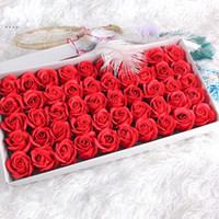 Wholesale valentines decor resale online - Creative Artificial Soap Flower Layers Scented Simulation Roses Fashion Romantic Valentine Day Wedding Decor Gift Flowers zx