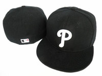 Wholesale field piece - One Piece Men's Phillies on field red color fitted hat flat Brim embroiered team p letter logo fans baseball Hat phillies full closed Chapeu