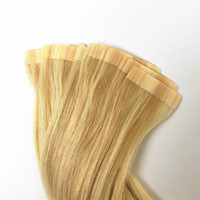Wholesale skin weft hair extensions online - ELIBESS Hair Double drawn tape in human hair g piece pieces straight wave skin weft human hair extensions
