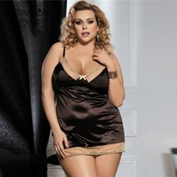 Wholesale Costume Erotica - Comeonlover High quality soft lingerie costume brown plus size lace babydoll sleepwear RL80352 strap lenceria erotica mujer sexi