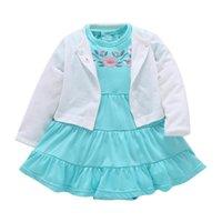 kleine mädchen der neuen ankunft kleiden an großhandel-Die Limited New Arrival Active Little Girls Kleidung Rock Kleid Kinderbekleidung In 2018 100% Sets von Neugeborenen Clot