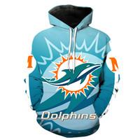 hoodies impressão venda por atacado-Hoodie dos homens Miami Dolphins 3D Full Print Man Moletom Com Capuz Unisex Pulôveres Casuais Hoodies Mangas Compridas Camisolas Tops Digitais (RL2722)