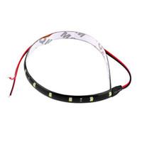 flexibles geführtes streifenmotorrad großhandel-10 stücke 30 cm 12 V 15 LED Auto Auto Motorrad Wasserdichte Streifen Lampe Flexible Licht
