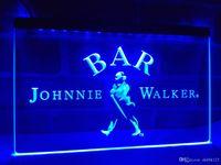 Wholesale whiskey signs - LA439b- BAR Johnnie Walker Whiskey LED Neon Light Sign