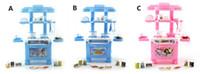 bebê menina cozinha brinquedo venda por atacado-Crianças Brincam Brinquedo Menina Cozinha Do Bebê Cozinha Simulação Utensílios De Mesa Brinquedos Presente de Natal