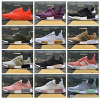 Wholesale Silver Flats Shoes - 2018 NMD R1 Primeknit PK Perfect Best Quality Sneakers Fashion Running Shoes NMD Runner Primeknit Sneakers With Box