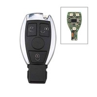 Wholesale Car Key For Mercedes - 3Buttons Remote Car Key Shell Key Replacement for Mercedes Benz year 2000+ NEC&BGA Control 433MHz