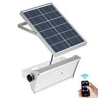 alumbrado público solar al por mayor-Luz de inundación solar 6W 12W 30W Sensor de radar de microondas Proyectores Iluminación de patio solar con control remoto Lámpara de calle para exteriores