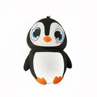Wholesale lovely charms resale online - Animal Shape Squishy Phone Straps Charm Pendant Lovely Penguin Squishies Slow Rising Decompression Toy Hot Sale ck C