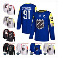 Wholesale Green Flash Games - Custom 2018 All-Star Hockey Jerseys 97 Connor McDavid 76 P.K. Subban 91 Steven Stamkos Men's 8 Alex Ovechkin Game Hockey Jerseys Stitched