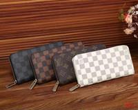 portefeuille féminin masculin achat en gros de-2018 Nouveau portefeuille pour femmes de grande capacité Double Zipper Handbag Male and Female Universal