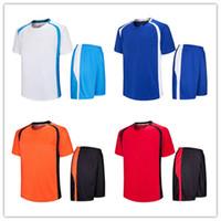 Wholesale Al Training - AL-416-personalized blank Soccer Jerseys,Custom Team Soccer Jerseys Tops With Shorts,Training Running Jersey hort,soccer uniform