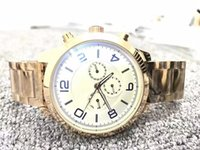 Wholesale wholesale bangs - DHL Free AAA+quality men luxury brand watch Blanc gold strap all subdial work quartz watches relogio montre james master wristwatch big bang