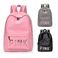 campus de sac à dos étudiant achat en gros de-Sacs à dos de campus en sequins ROSE Étudiants Sacs à bandoulière de voyage pour adolescents