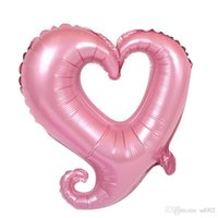 Wholesale giant balloons for weddings for sale - Group buy 18 Inches Helium Balloon Giant Nifty Hook Love Heart Shape Air Balloons For Wedding Decor Aluminum Foil Airballoon tq ii