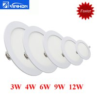 Wholesale 3W W W W W LED ceiling downlight quot quot quot quot quot round panel light faster shipping small recessed